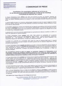 COMMUNIQUE DE PRESSE