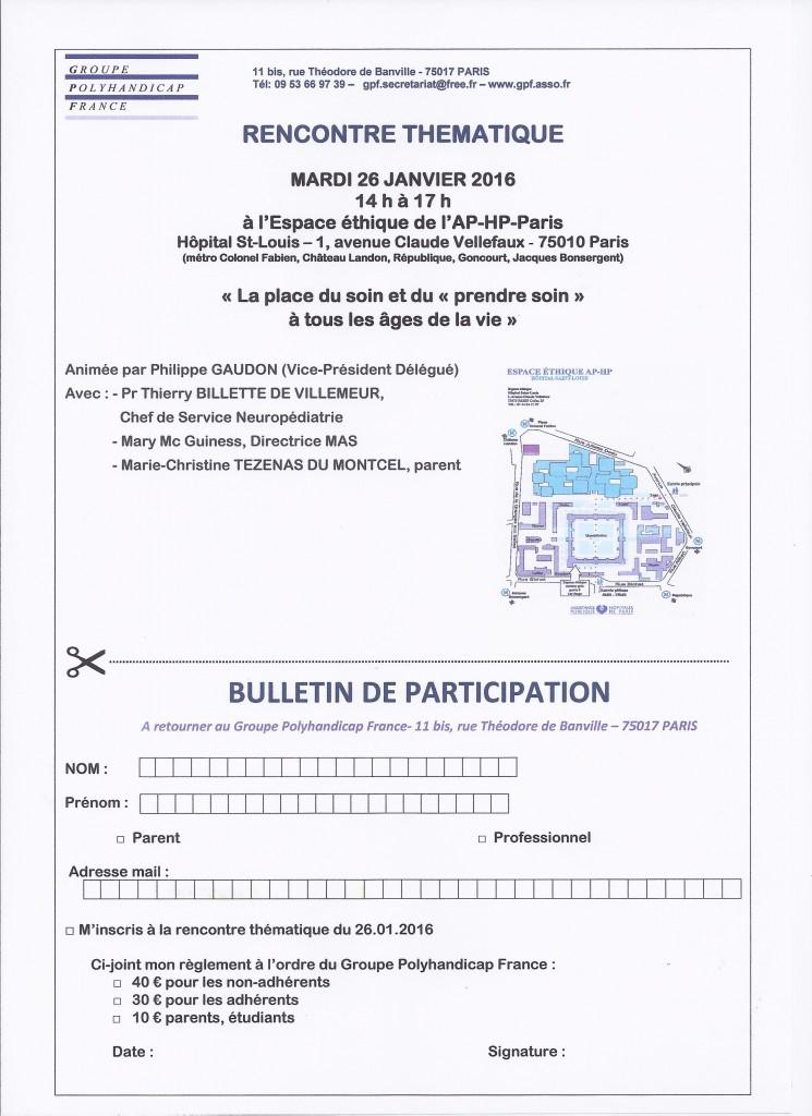 bulletin de participation 26 janvier 2016
