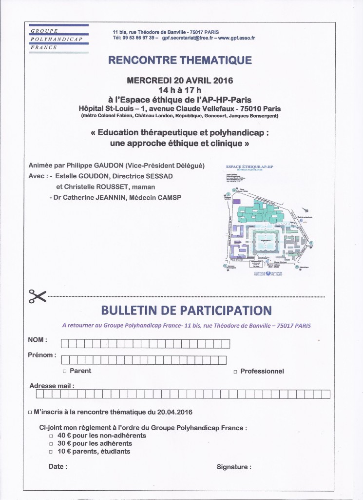 bulletin de participation